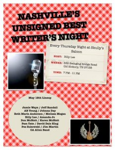 Skully's Saloon - Unsigned Best Writer's Night